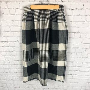 E.J. & Gee of New York Wool Plaid Skirt
